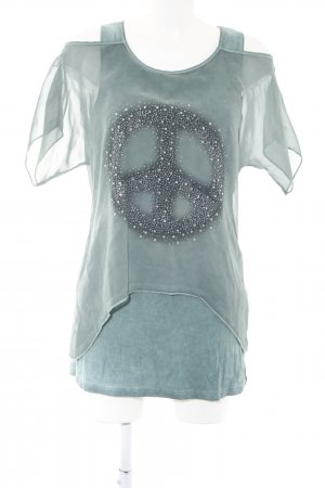 Liberty T-Shirt türkis meliert Casual-Look