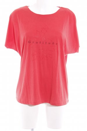 Liberty T-shirt rosso stile casual