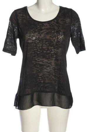 Liberty Blusa trasparente nero puntinato stile casual