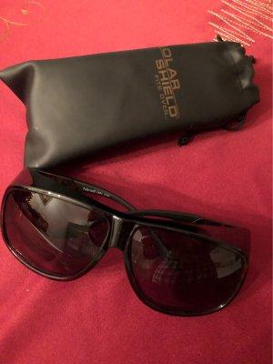 solar Hoekige zonnebril donkerbruin