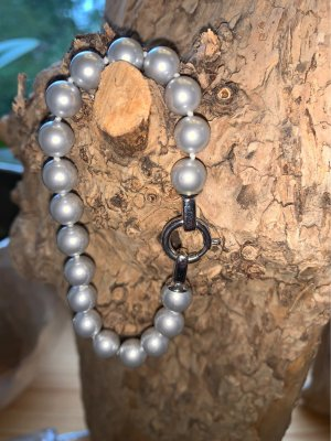Pierre Lang Collana di perle argento-grigio chiaro