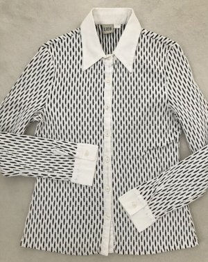 LIEB Bluse schwarz weiß strech, S 36