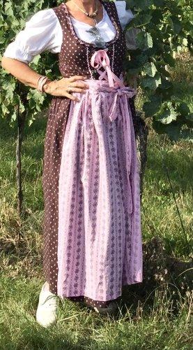 no name Dirndl rosa chiaro-marrone-grigio Cotone