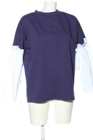 Liebesglück Oversized Shirt blau-weiß Casual-Look