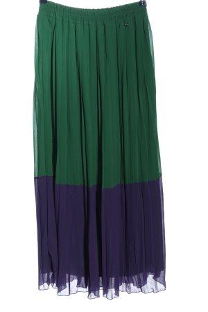 Liebesglück Jupe plissée vert-violet style décontracté