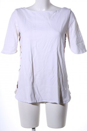 Boothalsshirt wit casual uitstraling