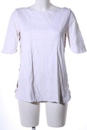 Liebesglück U-Boot-Shirt weiß Streifenmuster Casual-Look