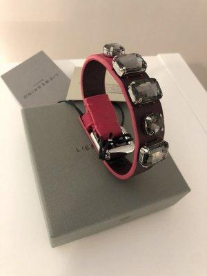 Liebeskind Bracelet black-magenta leather