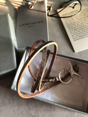 Liebeskind Berlin Bracelet en cuir bronze-doré