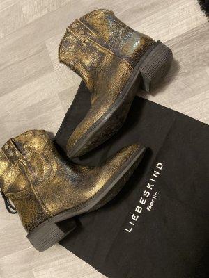 Liebeskind Berlin Bootie /Stiefelette, Gold-Bronze, Neu, Gr 38