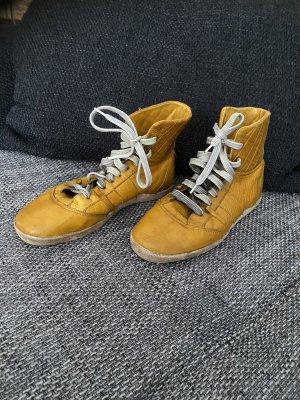 Liebeskind Berlin Zapatillas altas amarillo-amarillo limón Cuero
