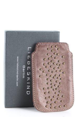 Liebeskind Berlin Étui pour téléphone portable brun style décontracté