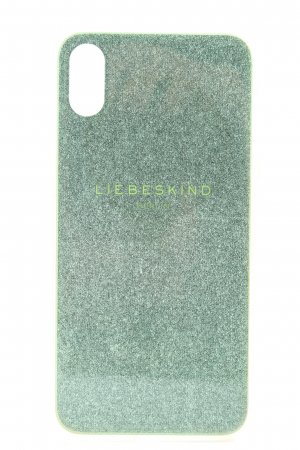 Liebeskind Berlin Mobile Phone Case green-silver-colored printed lettering