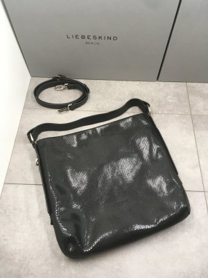 "Liebeskind-Berlin Hobo bag in snakeskin look ""Slouchy Base Hobo M"" (4058629123415), Farbe Black"