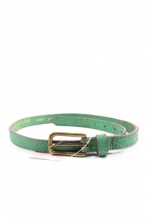 Liebeskind Berlin Leather Belt green-gold-colored abstract pattern casual look