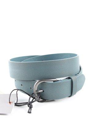 Liebeskind Berlin Cintura di pelle blu motivo animale stile professionale