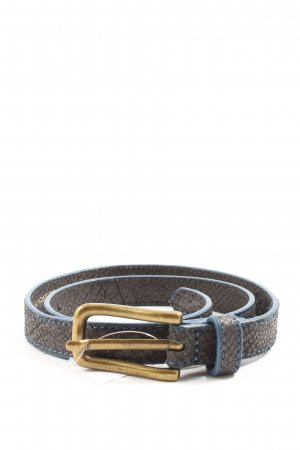 Liebeskind Berlin Faux Leather Belt brown-blue animal pattern casual look