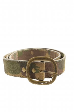 Liebeskind Berlin Faux Leather Belt green-brown allover print casual look