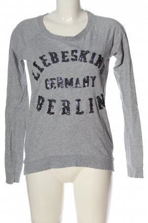 Liebeskind Berlin Longsleeve hellgrau-schwarz meliert Casual-Look