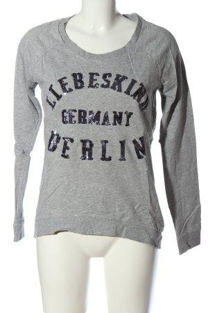 Liebeskind Berlin Longsleeve hellgrau meliert Casual-Look