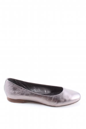 Liebeskind Berlin Patent Leather Ballerinas silver-colored wet-look