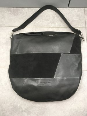 "Liebeskind-Berlin Mixed leather Hobo Bag ""Vermont Hobo M"" (4058629127666), Farbe: Black"