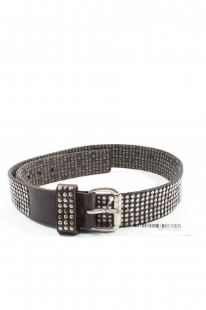 Liebeskind Berlin Studded Belt silver-colored-brown spot pattern casual look