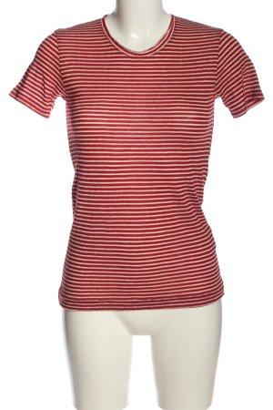 Liebeskind Berlin Ringelshirt rot-weiß Streifenmuster Casual-Look