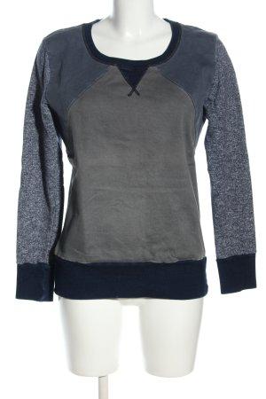 Liebeskind Berlin Jersey de cuello redondo azul-gris claro moteado look casual