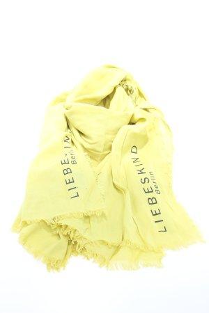 Liebeskind Berlin Scialle giallo pallido caratteri stampati stile casual