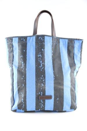 Liebeskind Berlin Shopper noir-bleu imprimé allover style décontracté
