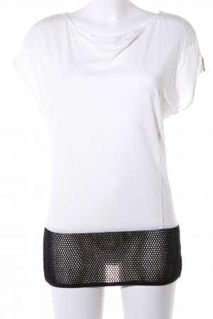Liebeskind Berlin T-Shirt weiß-schwarz Punktemuster Casual-Look