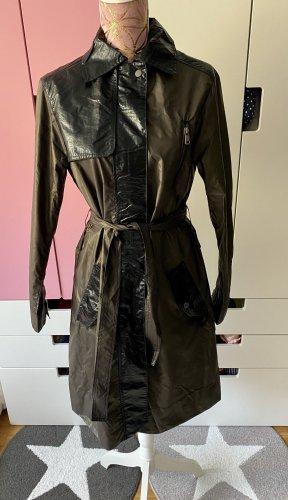 Liebeskind Berlin Trenchcoat Regenmantel bronzefarben schwarz Größe XS