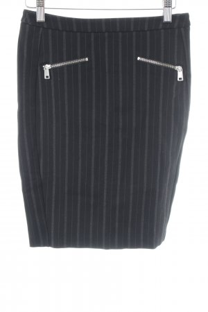 Liebeskind Pencil Skirt black-grey pinstripe business style