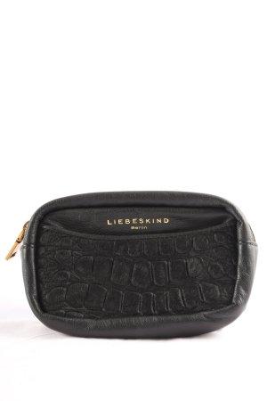 Liebeskind Pochette noir motif animal style décontracté