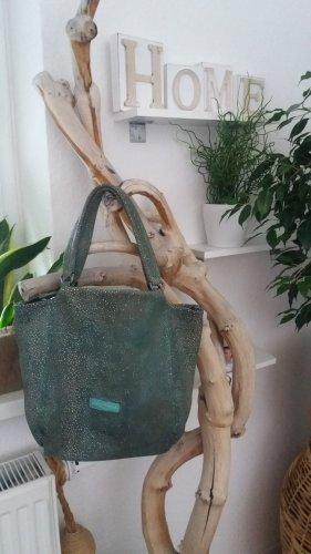 Liebeskind Damen dunkelgrün-silber Glitzer Handtasche