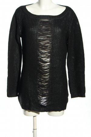 Liebeskind Coarse Knitted Sweater black casual look