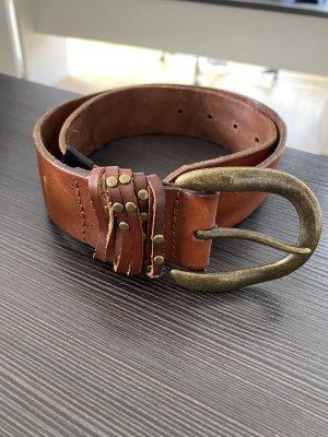 Liebeskind Berlin Cinturón de cuero marrón-marrón oscuro