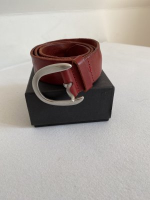Liebeskind Berlin Leather Belt dark red