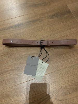 Liebeskind Gürtel rosa altrosa Puder Leder 80cm bei Etikett