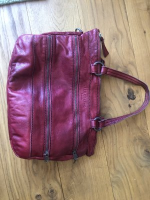Liebeskind Handtasche, Tasche, Leder, Corrie, rot, Reißverschluss