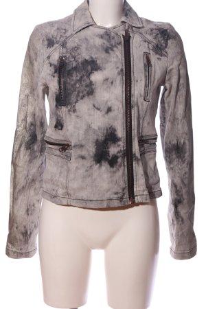 Liebeskind Krótka kurtka jasnoszary Abstrakcyjny wzór W stylu casual