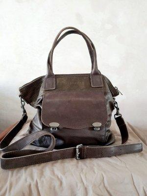 Liebeskind Crossbody bag dark brown-khaki