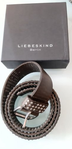 Liebeskind Leather Belt dark brown