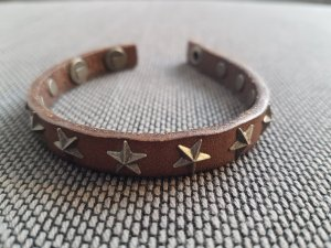 Liebeskind Lederen armband grijs-paars