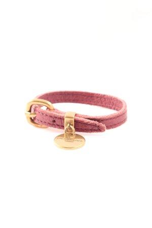 Liebeskind Bracelet en cuir rose-doré style décontracté