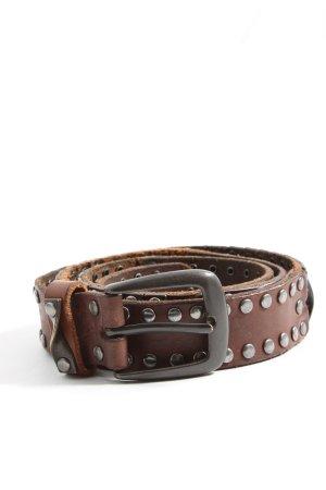 Liebeskind Cinturón de cuero marrón look casual