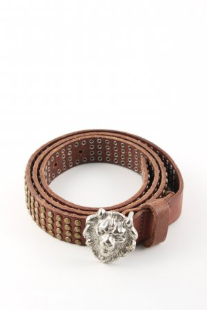 Liebeskind Leather Belt brown-silver-colored casual look