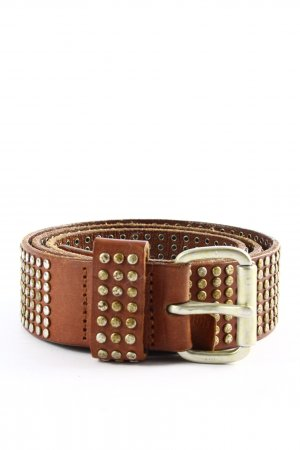 Liebeskind Leather Belt brown-gold-colored casual look
