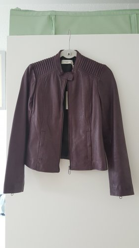 Liebeskind Leather Jacket blackberry-red-brown violet
